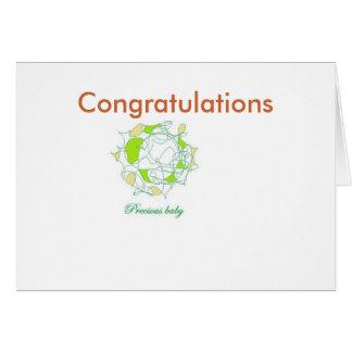 Carte Félicitations sur le bébé