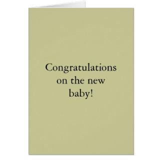 Carte Félicitations sur le nouveau bébé !