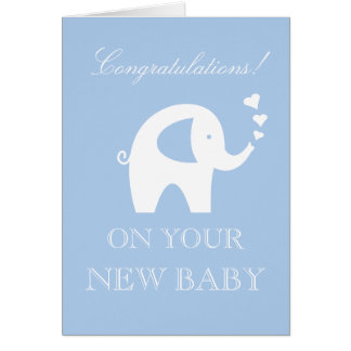 Carte Félicitations sur votre nouvelle coutume de bébé
