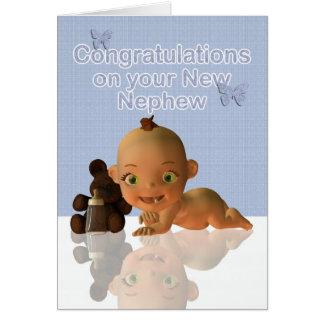 Carte Félicitations une belle tante le tante de bébé