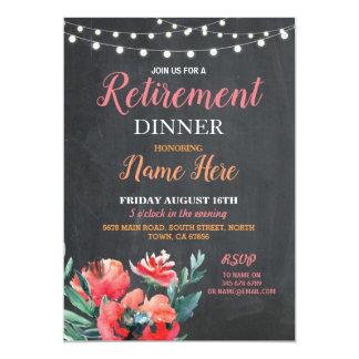 Carte Femmes de partie d'invitation de dîner de retraite
