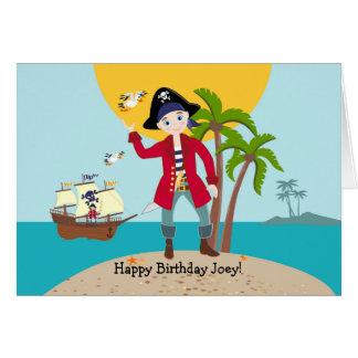 Carte Fête d'anniversaire d'enfant de pirate