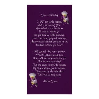 Carte Fleur-Sourcilleuse de poésie d'iris Cartes De Vœux Avec Photo