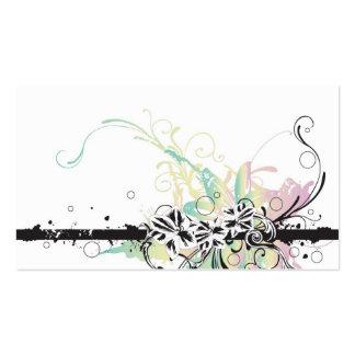 Carte florale de profil carte de visite standard