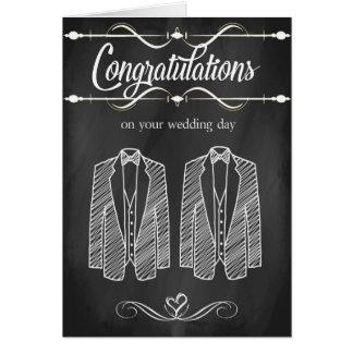 Carte gaie de félicitations de mariage