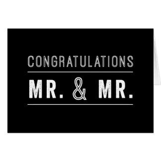 Carte gaie de félicitations de mariage de couples