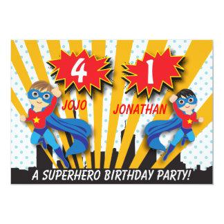 Carte Garçons de l'anniversaire | de super héros de