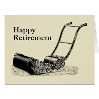 Carte Grande salutation de retraite heureuse VINTAGE de