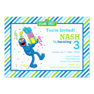 Carte Grover a barré l'anniversaire