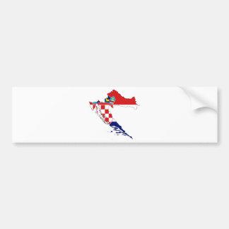 Carte heure Hrvatska de drapeau de la Croatie Autocollant De Voiture