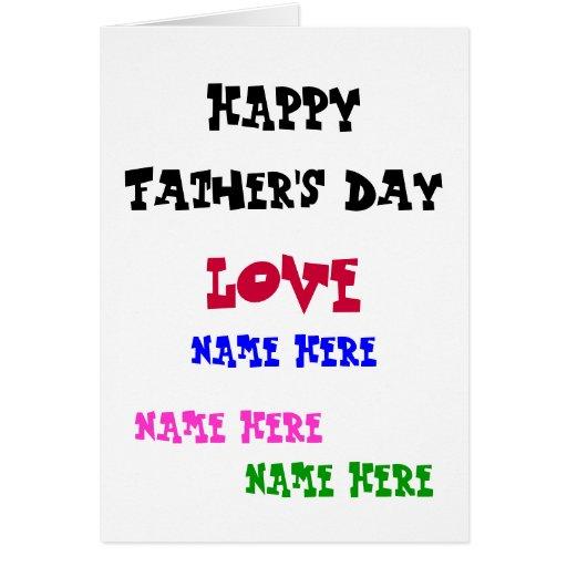 Carte heureuse de fête des pères