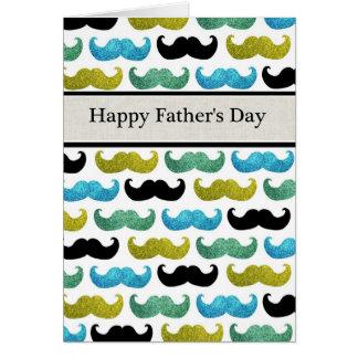 Carte heureuse de fête des pères de moustaches