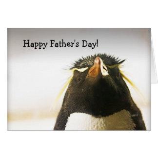 Carte heureuse de fête des pères de pingouin