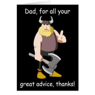 Carte heureuse de fête des pères de Viking