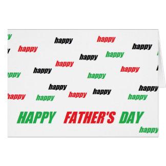 carte heureuse de fête des pères. Par Charles