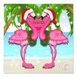 Carte #holidayZ rose d'invitation d'amusement de flamant