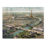 Carte imagée vintage de Paris (1900) Carte Postale