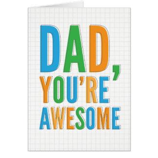 Carte impressionnante de fête des pères