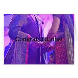 Carte indoue de félicitations de mariage