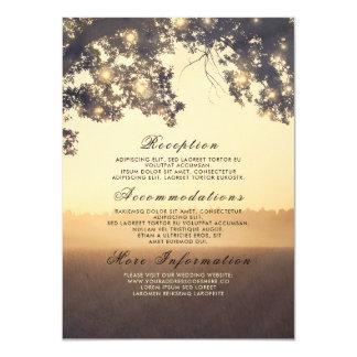 Carte Insertion rêveuse rustique de détails de mariage