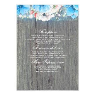Carte Invité rustique floral de l'information de mariage