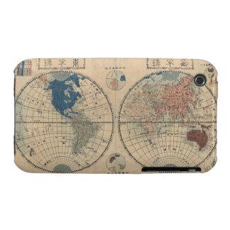 Carte japonaise vintage de la courbe Ca de Blackbe Étuis iPhone 3