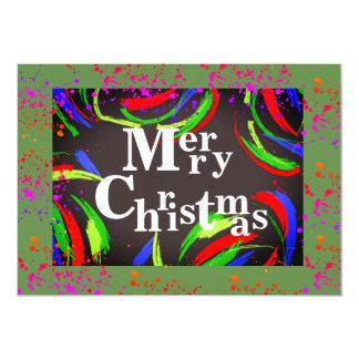 Carte Joyeux Noël multicolore et d'amusement -