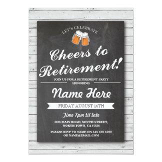 Carte La partie de retraite encourage l'invitation en