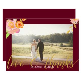 Carte La photo florale de mariage de automne de