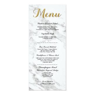 Carte La réception de mariage de marbre de menu d'or