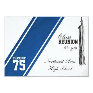 Carte La Réunion bleue de classe de rayure de fac