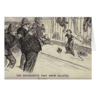 Carte La suffragette qui a battu en retraite