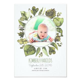 Carte La verdure tressent la naissance nouveau-née