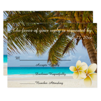 Carte Le mariage de plage pour M. et la Mme  