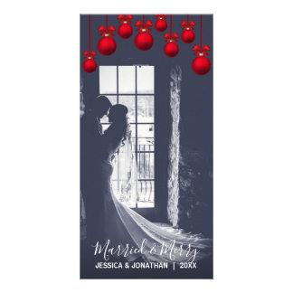 Carte Le Noël MARIÉ et JOYEUX | de rouge premier