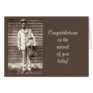Carte Les félicitations dès l'arrivée du nouveau bébé