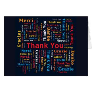 Carte Les langues du nuage 5 de mot de Merci noircissent