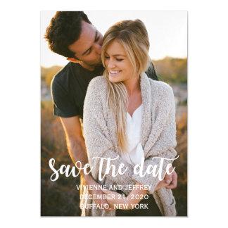 Carte Magnétique Économies de photo de mariage de couples la date
