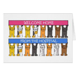 Carte Maison bienvenue de l'hôpital