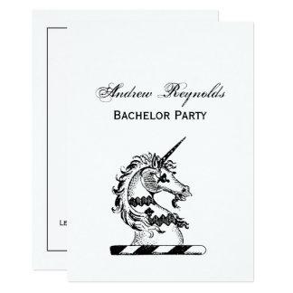 Carte Manteau héraldique de tête de licorne d'emblème de