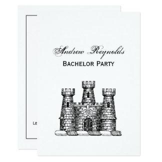 Carte Manteau héraldique vintage d'emblème de château de