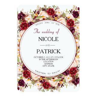 Carte Mariage floral