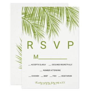 Carte Mariage moderne du palmier RSVP de verdure