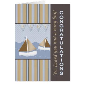 Carte Marin de bébé de félicitations