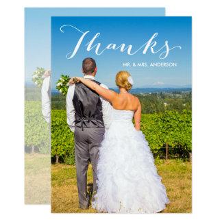 Carte Merci de mariage de photo du manuscrit   de