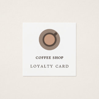 Carte minimale moderne de fidélité de magasin