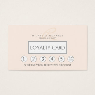 Carte minimaliste élégante rose de fidélité de
