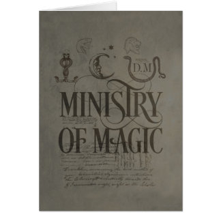 Carte MINISTÈRE du charme   de Harry Potter de MAGIE