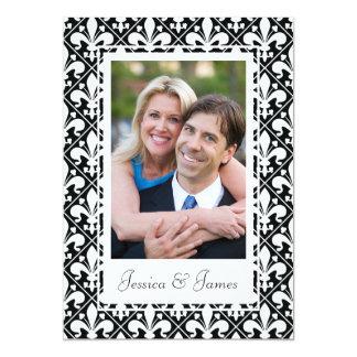 Carte Modèle photo noir et blanc de mariage de la