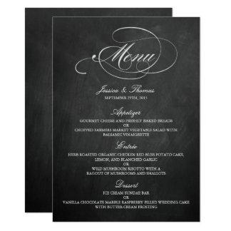 Carte Modèles élégants de menu de mariage de tableau